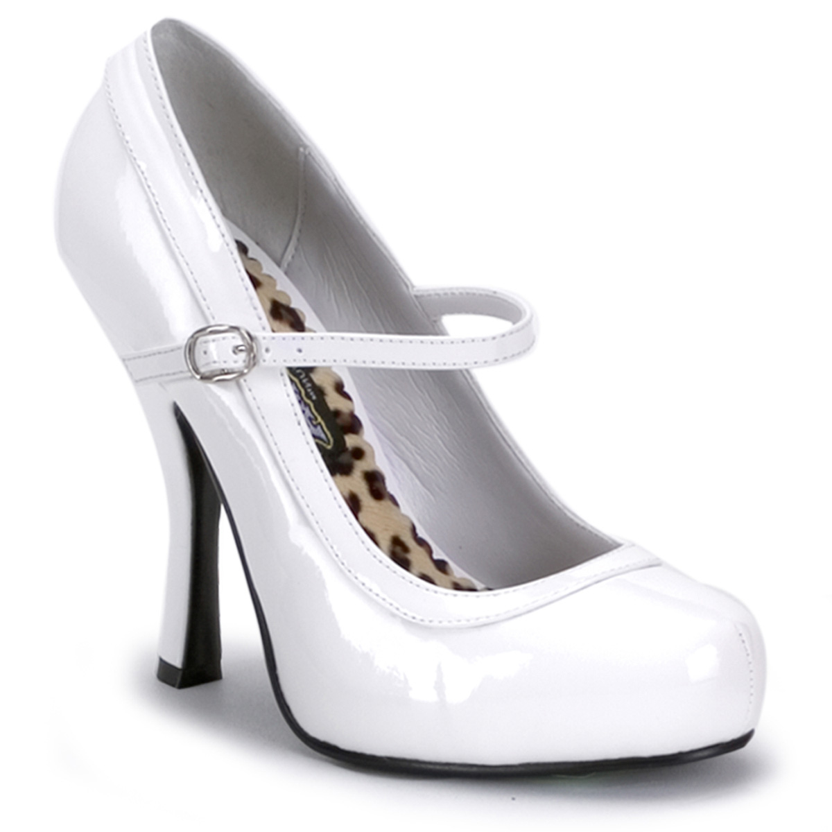 Pleaser Pretty-50 Womens Sexy High Heels Halloween Costume White Mary Janes Pumps Shoes at Sears.com