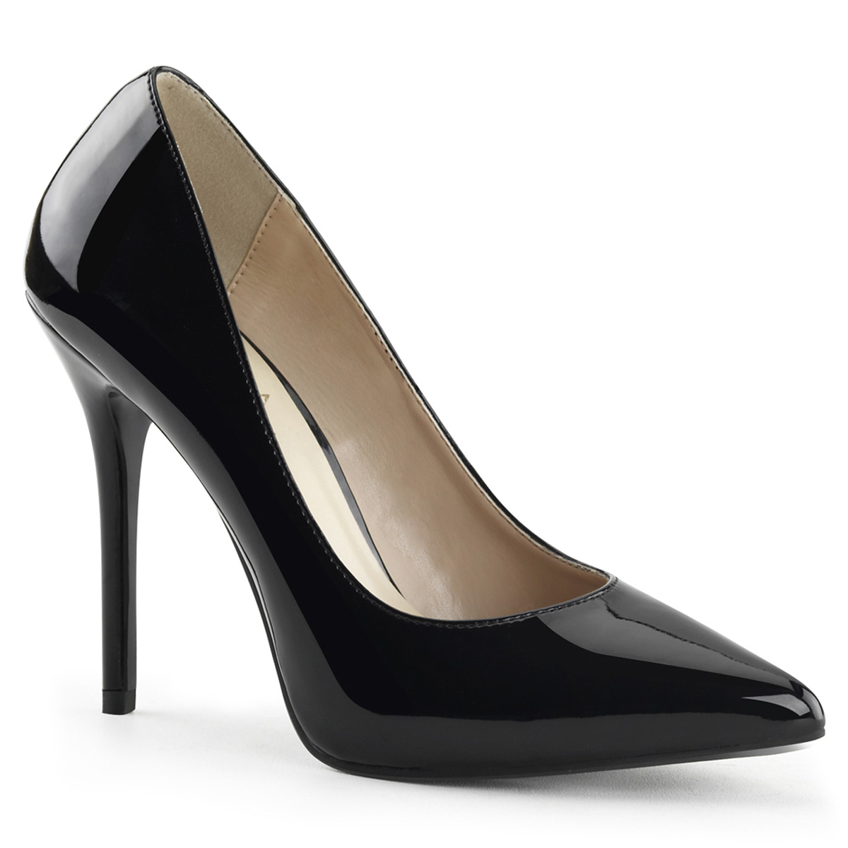 "Pleaser AMUSE-20 Women's Basic Black 5"" High Heels Classic Sexy Stilettos Pumps Shoes at Sears.com"